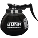 BUNN 12 cup glass decanter - Black