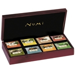 NUMI Wooden Top Velvet Tea Chest